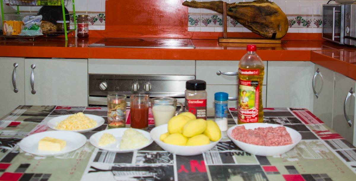 картофельная запеканка с фаршем - ингредиенты
