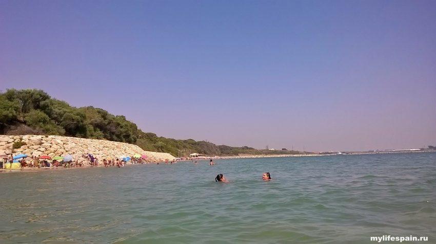 Пляж Playa Los Galeones Rota ИСПАНИЯ АНДАЛУСИЯ